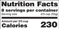 FDA Proposes Updates to Nutrition Facts Label on Food Packages
