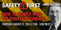 Webinar: How to Comply with the OSHA Lab Standard