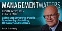 Webinar: Being an Effective Public Speaker by Avoiding 10 Common Mistakes