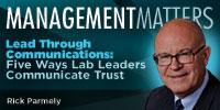 Webinar - Lead Through Communications:  Five Ways Lab Leaders Communicate Trust