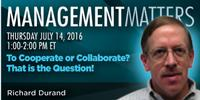 Webinar: To Cooperate or Collaborate? That is the Question!
