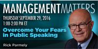 Webinar: Overcome Your Fears in Public Speaking