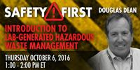Webinar: Introduction to Lab-Generated Hazardous Waste Management