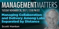 Managing Collaboration and Delivery among Labs Separated by Distance