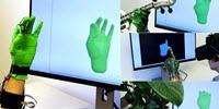 Stretch-Sensing Glove Captures Interactive Hand Poses Accurately