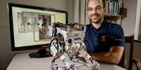 Human Reflexes Keep Two-Legged Robot Upright