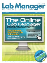 The Online Lab Manager Magazine Issue Cover