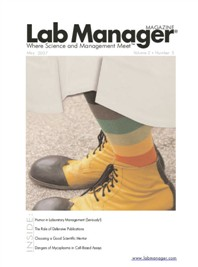 Humor in Laboratory Management Magazine Issue Cover