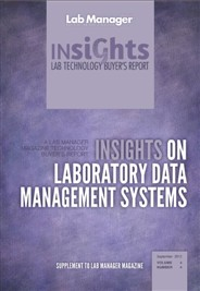 Insights on Laboratory Data Management Systems Magazine Issue Cover